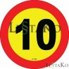 Speed ​​Label 10 Km / h