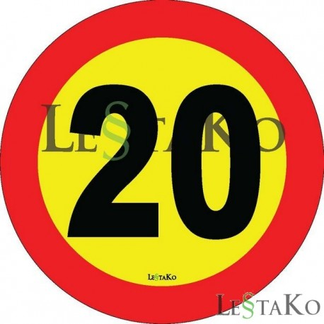 Speed ​​Label 20 Km / h