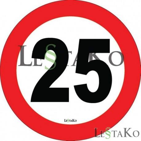 Hitrostna nalepka 20 Km/h