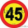 Speed Label 40 Km / h 15X15 cm