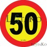 Speed ​​Label 45 Km / h 15X15 cm