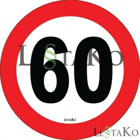 Speed Label 50 Km / h 15X15 cm