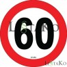 Speed ​​Label 50 Km / h 15X15 cm