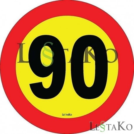 Speed ​​Label 70 Km / h 15X15 cm