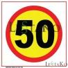 Hitrostna tabla 50 Km/h 30 x30 cm