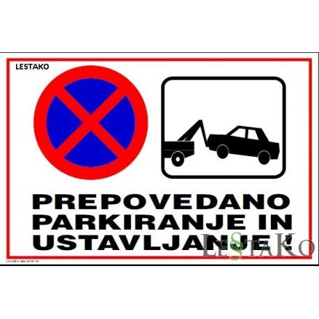 Prepovedano parkiranje SAMO ZNAK 40x30cm