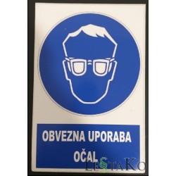 Obvezna uporaba očal 17x27cm