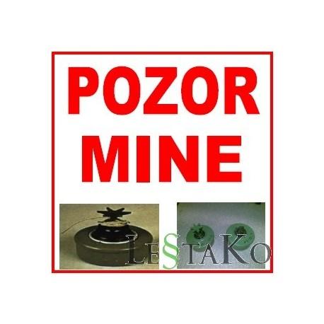 Pozor mine 30x30cm tabla